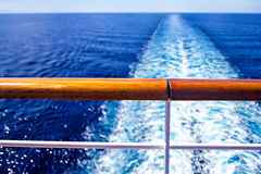 Wake from cruise ship Royalty Free Stock Images