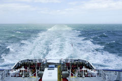 Wake of a ferry boat Royalty Free Stock Image