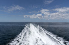 Wake of a high speed ferry crossing Tampa Bay Florida USA Stock Photo