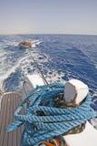 Wake of a motor yacht Royalty Free Stock Image
