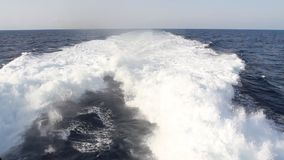 Wake in the ocean stock video footage