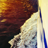 Wake in the ocean made by cruise ship Stock Photography