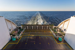 Wake in the ocean made by cruise ship Stock Image
