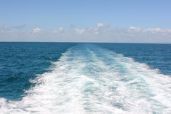 Wave. Photo image of  ocean with boat wake Royalty Free Stock Images