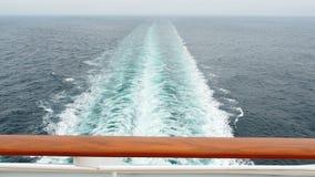 Wake sea cruise ship stock footage
