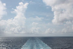 Wake of a ship or cruise Royalty Free Stock Photography