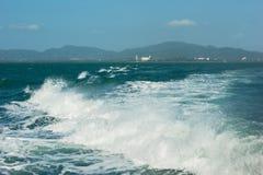 Wake of speed boat Stock Image