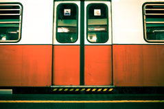 Wake of a subway train. To milan Royalty Free Stock Image