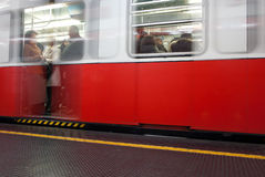 Wake of a subway train. To milan Royalty Free Stock Photos