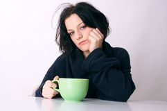 Wake up. First coffee in the morning after wake up Royalty Free Stock Photography