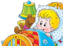 Wake up. Isolated clip-art and children's illustration for yours design, postcard, album, cover, scrapbook, etc Royalty Free Stock Photos
