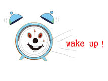 Wake up. Word ' wake up' from clock ,vector ,design concept Royalty Free Stock Photo