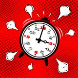 Wake up. Alarm clock icon, vector illustration. Stock Images