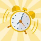 Wake up alarm clock, Vector Flat design. Stock Images