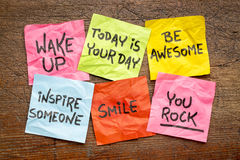 Free Wake Up And Be Awesome Napkin Concept Stock Image - 92668501
