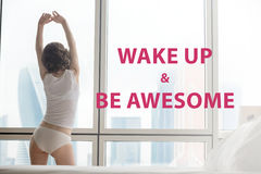 Wake up & be awesome Stock Images