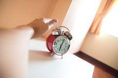 Wake up call (Alarm clock). Wake up call in the morning. (alarm clock Stock Photos