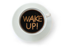 Wake up coffee royalty free stock photos