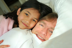 Wake up, Dad! Stock Photo