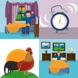 Wake up design. Icon set of wake up morning awake and routine theme Vector illustration Stock Image