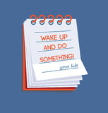 Wake up and do something! Royalty Free Stock Photos