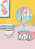 Wake up early. colorful hand drawn illustration. Colorful hand drawn illustration. wake up early Royalty Free Stock Photo