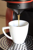 Wake-up with espresso coffee. Espresso coffee maker at home Stock Photography