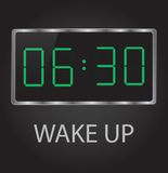 Wake up. Good morning time 6-30 early wake up clock Royalty Free Stock Photography