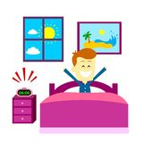 Wake Up Happily Royalty Free Stock Image
