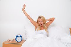 Wake up and leave. Bet the morning in good spirits Stock Photography