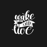 Wake Up and Live. Morning Inspirational Quote Stock Image