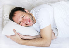 Wake up man portrait Royalty Free Stock Photos
