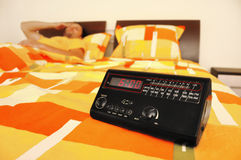 Wake up in the morning alarm clock Stock Image