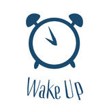 Wake up poster with alarm clock. Vector illustration. Flat style vector illustration