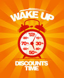 Wake up sale design. Royalty Free Stock Image