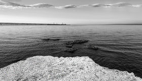 Wake up of the sea in the morning. Wake up coast sea in the morning Royalty Free Stock Image