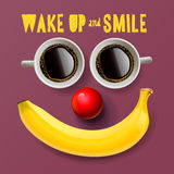 Wake up and smile, motivation background Royalty Free Stock Photography