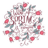 Wake up Spring is coming. Royalty Free Stock Images
