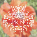 Wake up. Spring is coming lettering on unfocused Royalty Free Stock Photo