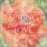 Wake up. Spring is coming lettering on unfocused Royalty Free Stock Photos