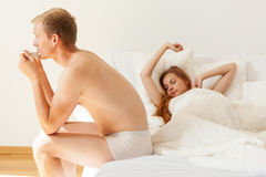 Wake up on sunday morning Stock Image