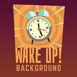Wake up vector background Stock Images