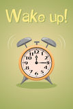 Wake up vector poster Royalty Free Stock Photos