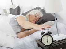 Wake up woman royalty free stock images