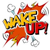 Wake up word comic book pop art vector. Wake up word pop art retro vector illustration. Isolated image on white background. Comic book style imitation Stock Photo