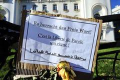 Wake voor de slachtoffers van Islamitische verschrikkingsaanval in Parijs Stock Afbeeldingen