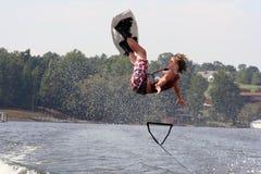 wakeboard падения Стоковая Фотография