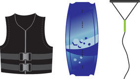 Wakeboard equipment. Wakeboard sport  equipment  illustration Royalty Free Stock Photography