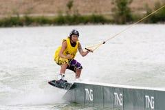 wakeboard jej jeździecka kobieta Obraz Royalty Free