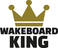 Wakeboard king Royalty Free Stock Photos